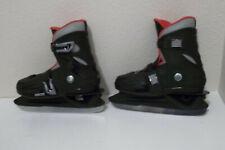 Boys Roces Mck Ii Black Ice Skates Adjustable Sz 4 5 6 7 Youth