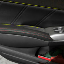 For Honda Civic 06-2011 Black Stitch Leather Door Panel Surface Trim Cover Shell