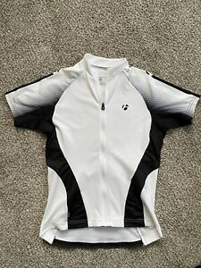 Womens Bontrager White Black bicycle Jersey Small Full Zip