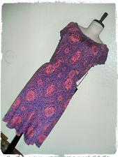 Christine V Morrocan Coral  & Purple Floral Tile Smocked Blouson Dress 4X