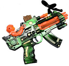 Kids Toy Gun 5 Barrels Spin LED Lights Realisitc Battle Sounds Battery Operated