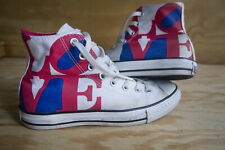 Converse All Star Love Shoes Men's 7 1/2 Women's 9 1/2 - Rare Collectible Morgan