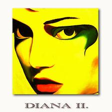 ☆DIANA II☆ auf Leinwand Akt Frau Gesicht gelb moderne Kunst Bilder Wandbilder