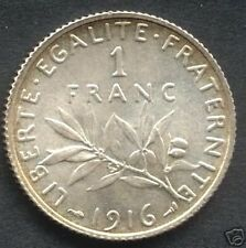 ~~ Roty: 1 Franc Semeuse 1916, SPL issue de rouleaux    ~~