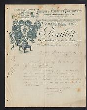 """AUXERRE (89) USINE d'INSTRUMENTS AGRICOLES & VIGNERONNES Charrues """"BAILLOT"""" 1894"""