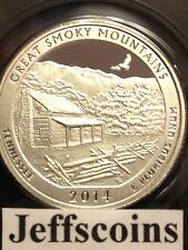 2014 S Silver Proof Great Smoky Mountains National PARK QUARTER 90% Smokey Mtn.