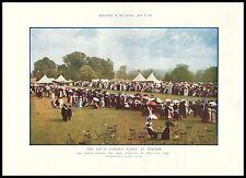 Antique Print 1912 THE ROYAL GARDEN - PARTY AT WINDSOR / GARDEN PARTIE ROYALE