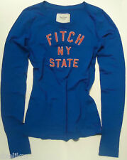 NWT Abercrombie & Fitch Crewneck LOGO Shirt Blue Sz M