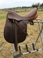 "Used 16.5"" Courbette Korporal English Dressage saddle gd cnd made in Switzerland"
