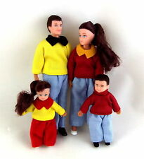 Melody Jane Dolls House Miniature 1:12 Family of 4 People Mum Dad Children