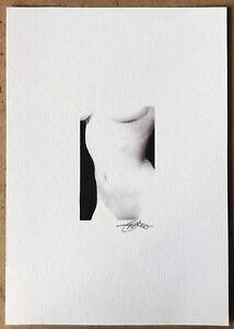 ORIGINAL FEMALE NUDE PAINTING WATERCOLOUR ART A5 8.3 x 5.8inch DAVID GOLDING