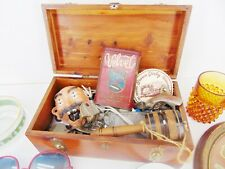 Vintage JUNK DRAWER LOT Grandpa's Treasure Chest Odds & Ins