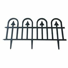 ABBA ECO Recycled Plastic Decorative Gothic Arch Garden Fence Border and Edging