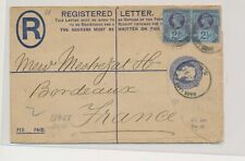 LM73985 Great Britain 1894 registered cover with nice cancels used