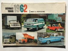 1962 Chevrolet Trucks Models And Specifications Sales Brochure Poster Original