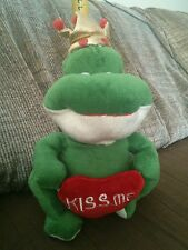 2007 preferred plush Valentines Prince Charming Love Frog Green Plush Toy Heart