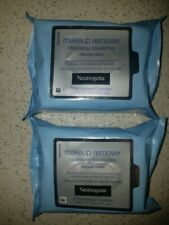 NEUTROGENA 2 Pk Cleansing Makeup Remover Facial Wipes Towelettes Fragrance Free