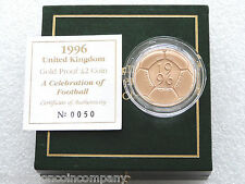 1996 Royal Mint Football £2 Two Pound Gold Proof Coin Box Coa Mule Type Error