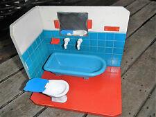 Puppenbad Bad Toilette für Puppe Holz Puppenstubenmöbel Puppenstubenzubehör DDR
