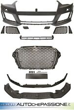 Paraurti Anteriore tipo RS3 per AUDI A3 8V ABS bumper S-line RS nido d'ape grill