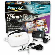 Spraycraft SP30KC Single Action Gravity Feed Brush Set - Airbrush and Compressor
