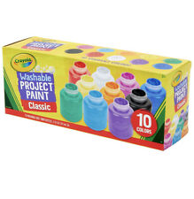 Crayola Washable Kids Paint Set 10 Count Crafts Painting Activities Projects