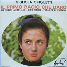 """GIGLIOLA CINQUETTI """" Il primo bacio che daro (+3)"""" EP 7"""" France 1964 - FX 1402 M"""