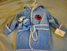 Cuddletime Baby Bath Robe Crab Fish Blue Boys  6-9 Months Slippers New with Tags