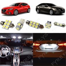 9x White LED lights interior package kit for 2014 & Up Mazda 3 Mazda3 MT1W