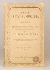 1867 HISTORY OF QUEBEC CITY by Charles Roger GUIDE FOR STRANGERS- AS IT WAS & IS