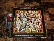Steve Earle Signed Limited Vinyl LP Record I'll Never Get Out This World + COA
