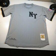 NEW YORK NY BLACK YANKEES BASEBALL NEGRO LEAGUE HEADGEAR CLASSICS JERSEY Sz L