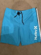 Hurley One And Only swim board shorts 34 Vivid Blue