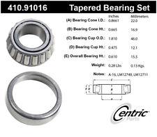 Wheel Bearing and Race Set-Premium Bearings Centric 410.91016