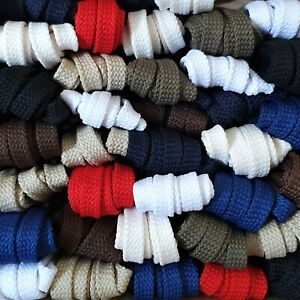 Flat Polyester 8 mm wide Shoelaces for casual shoes and trainers