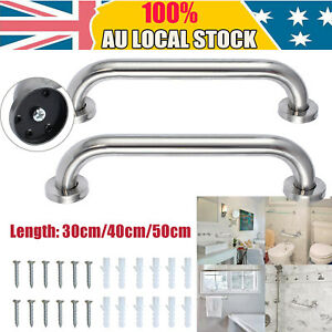 2xSafety Rail Wall Grab Bar Stainless Steel Pull Shower Handle Bathroom Handrail