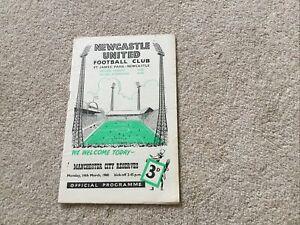 1959/60 Newcastle Utd Res v  Manchester City Res (Good Cond)