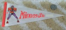 """Vintage Minnesota Vikings unlicensed 4""""x9"""" NFL football Mini Pennant"""