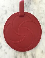 NEW SAMSONITE LARGE ROUND RED BAG TAG Luggage Suitcase Travel Easy To Identify