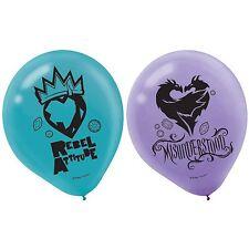 "(6ct) Disney Descendants 2 Birthday 12"" Latex Balloons Party Supplies"
