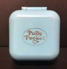 Vintage Bluebird Polly Pocket Dinnertime Fun Ring Blue Compact 1991