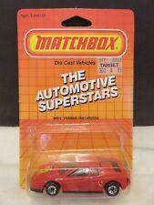 1986 Matchbox Ferrari Testarossa Red #75 Die-Cast Metal RL#89