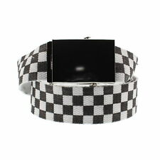 Zac's Alter Ego® Adjustable Checkered Canvas Webbing Belt with Slider Buckle