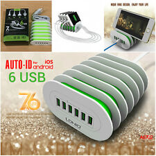 LDNIO 6 USB port Wall Desktop Travel Charger for Samsung iPhone AC Adapter US 7A
