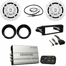 Kenwood 4 Channel  Marine Amp, Antenna, Harley FLHX Dash Kit,  Speakers/Adapters