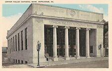 Lehigh Valley National Bank in Bethlehem PA Postcard