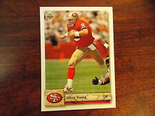 FOOTBALL CARD 1992 UPPER DECK STEVE YOUNG #299