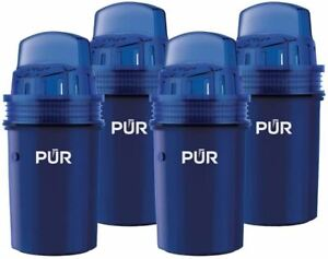 PUR Water Pitcher Replacement Filter, 4 Pack, Blue
