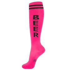 Gumball Poodle Knee High Socks - Pink Beer - Unisex