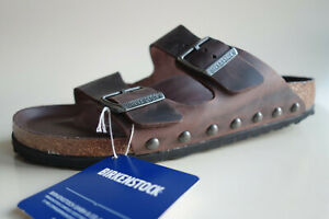 new BIRKENSTOCK Waxy-Leather Sandals ARIZONA Light Studs Habana US9 EU40 UK7 N